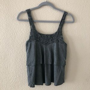 ❗️New❗️Kimchi Blue gray ruffle tank